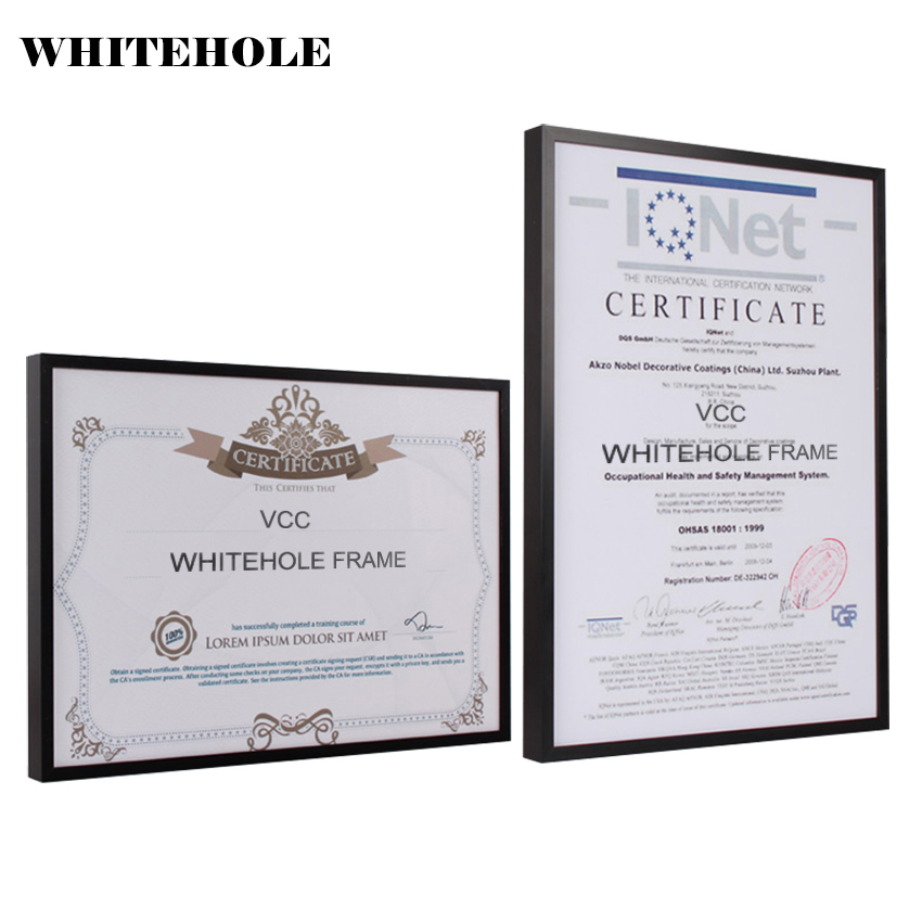 Us 10 41 32 Off Certificate Frame Picture Frame Metal Photo Frame A4 A3 Pleixglass Inside Classic Minimalist Black Silver Poster Frames In Frame