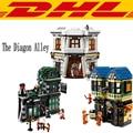 2017 LEPIN 16012 2025Pcs Movie Series Harry Potter The Diagon Alley Set Model Building Kits Blocks Bricks Toy For Children 10217