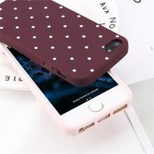 Lovebay Phone Case For iPhone 5 5s SE 6 6s 7 8 Plus Fashion Soft TPU Cute Cartoon Wave Point Ploka Dots For iPhone X Phone Case