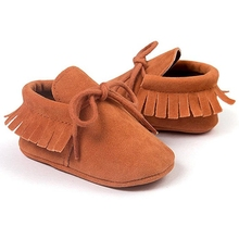 11 Colors Available Newborn Baby Boy Girl Shoes Spring/Autumn Solid With Tassel Cotton Casual Mocaasin First Walkers