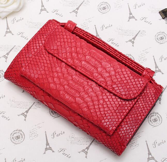 OZUKO новые сумки из натуральной кожи для женщин сумка Роскошные сумки на плечо для женщин дизайнер животных крокодил узор телефон клатч - Цвет: red