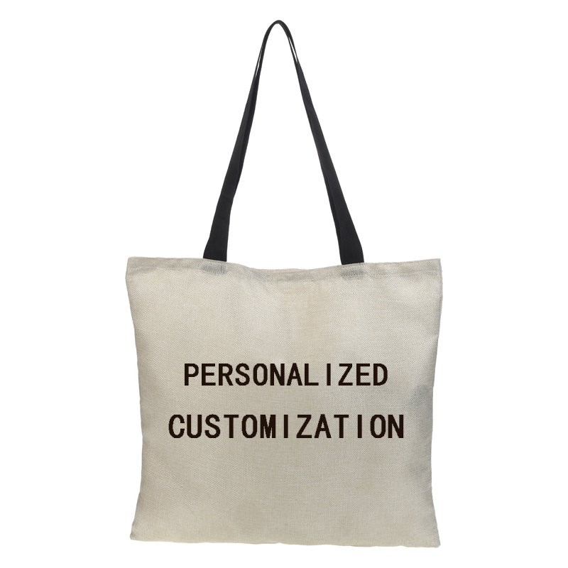 Custom Ms. Tote Bag Double-sided Printing Photo Photo Cartoon Linen Large Capacity Collapsible Fashion Shopping Bag Casual