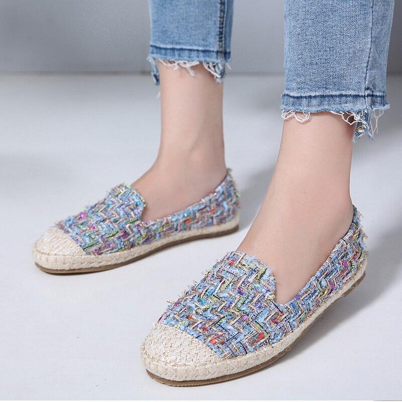 Chanvre Zapatos Canne Koreduo Talons Femme Mocassins Plat blue Mujer Chaussures Printemps Paresseux apricot Mw Espadrilles Paille Black Femmes Pêcheur Automne IrSzXqwS6