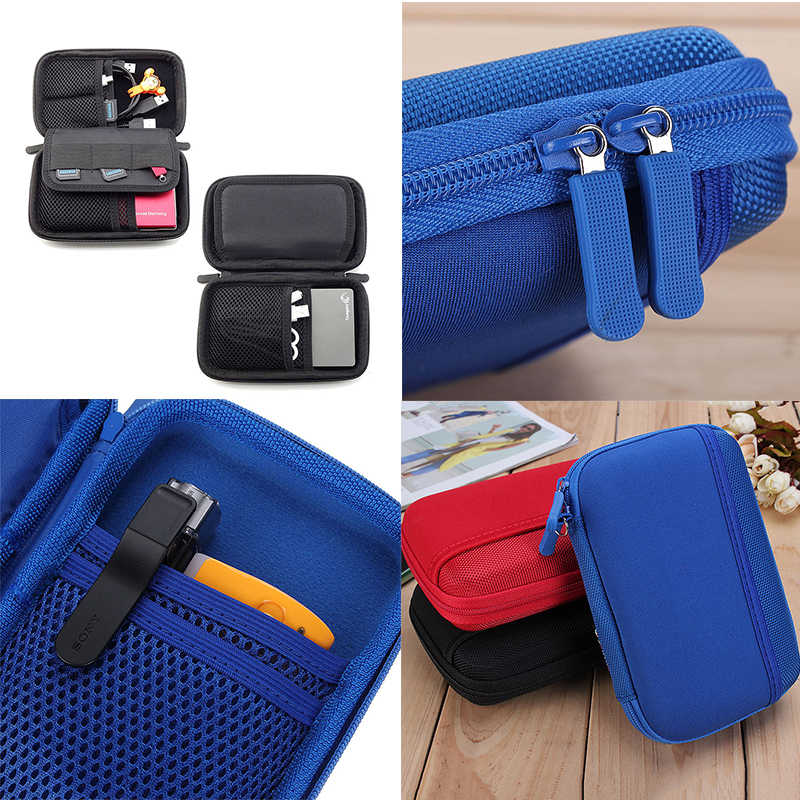 Electronic Accessory Travel USB Storage Bag Cable Insert Flash Drives Organizer For Easy Travel Portable Bags