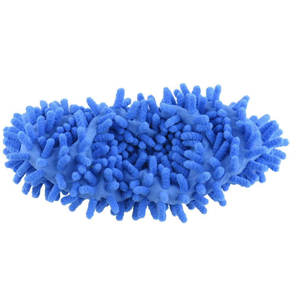 1 個トップファッション特別提供ポリエステル固体ダストクリーナーハウス浴室の床靴モップスリッパ