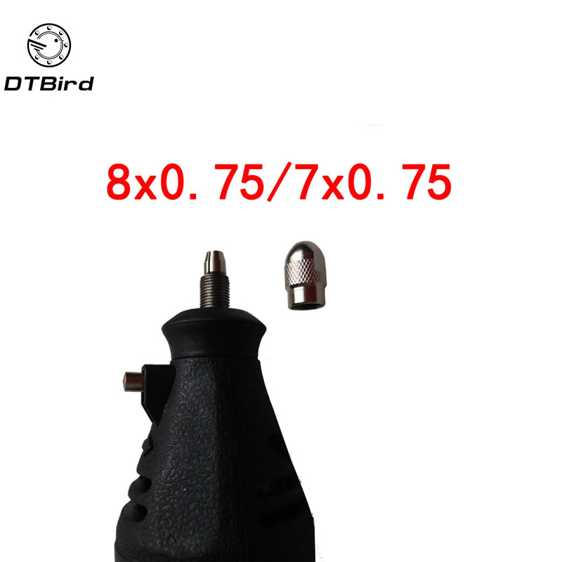 5pcs M8 Electric Mill Flexible Shaft Screw Cap Nut Collet Rotary Tool for Dremel