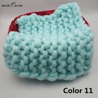 2pcs/lot Handmade Baby Blanket Newborn Photography Props Background Chunky Knit Blanket Basket Filler Baby Photo Accessories