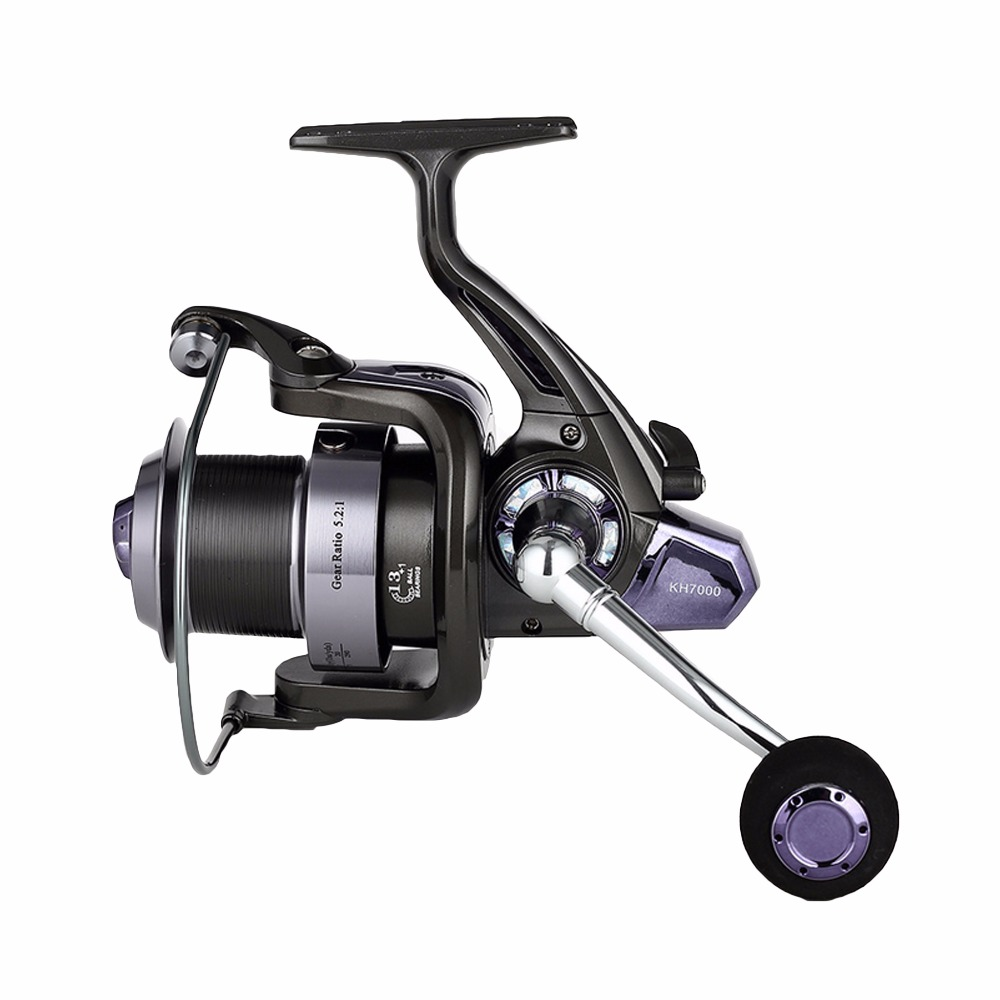 цена на 2016 14 Ball Bearing High Speed 5.2:1 Fishing Reel Graphite Body 6000  9000 Spinning Wheel Carp Spinning Fishing Reels