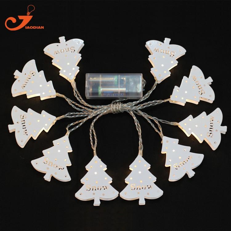 LED Lichtsnoer metal Christmas tree santa lighting (2)