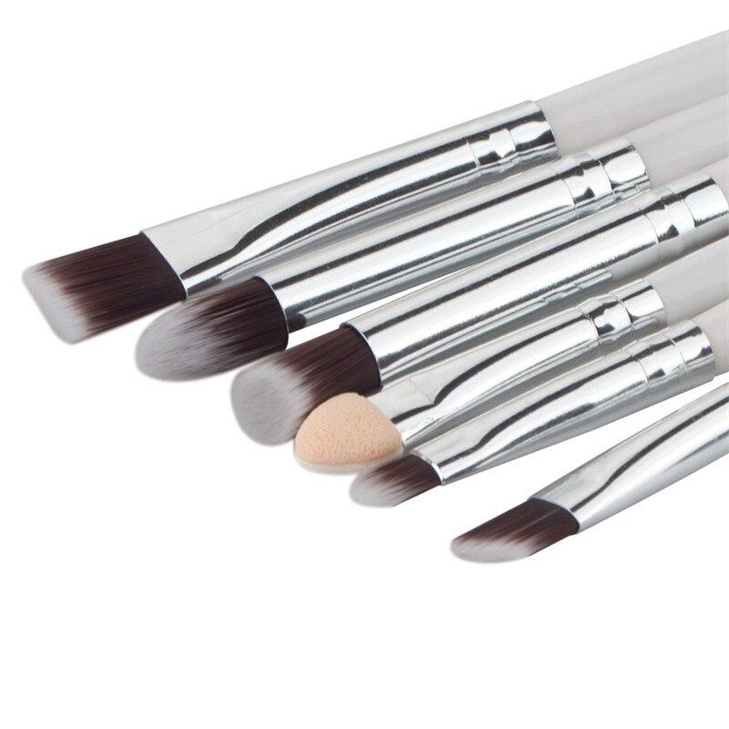 Pro 5Pcs Makeup Brushes Set Powder Blush Foundation Eyeshadow Eyeliner Lip Silver Cosmetic Brush Kit Beauty Tools Maquiagem