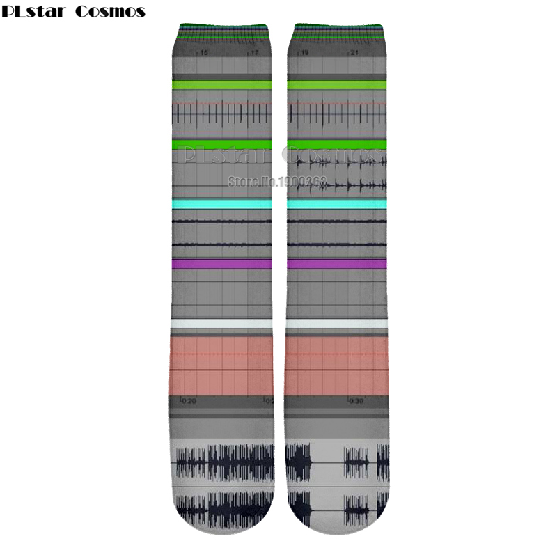 Plstar Cosmos new 3D socks Ableton live New style Brand Popular 3D High Socks Men Women high quality drop shipping