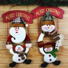 Random Christmas Wreath Christmas Snowman Hang The door Party Door Decor pendant snow man Christmas tree decor supply