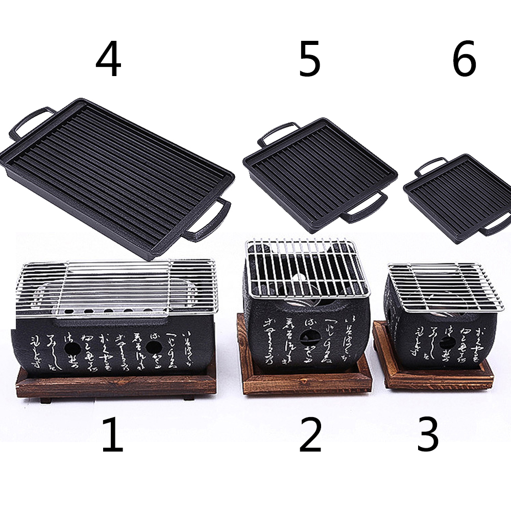 Charcoal Grill Outdoor Picnic Garden Party Terrace BBQ Beach Grill Grill Plate Portable Grill Tool Accessorie Reusable Grill Box(China)