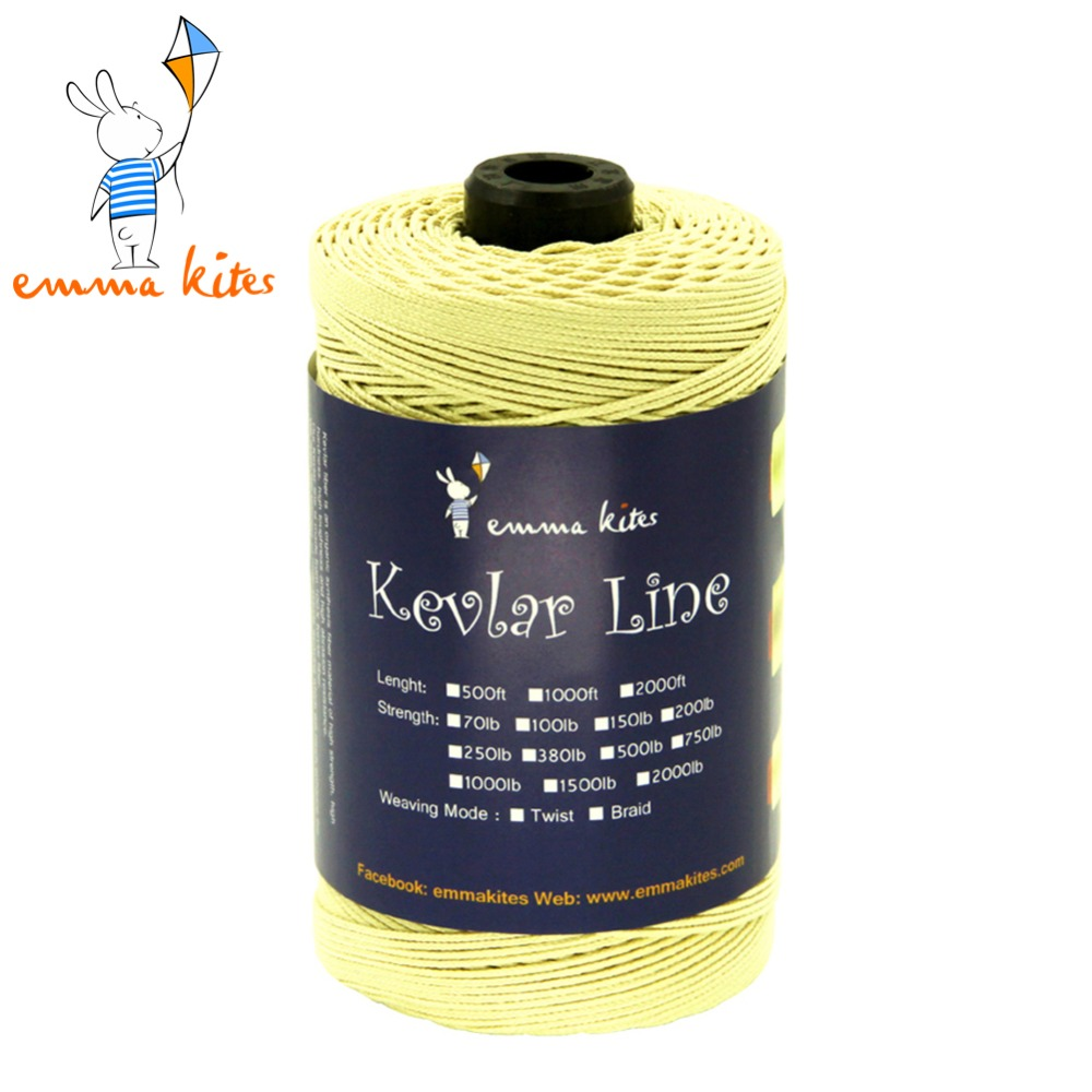 Emmakites 1000ft/304m 500LB Kevlar Fiber Line Kids Children Flying Kite Line Braided Fishing Line Outdoor Camping Tent Cord Rope
