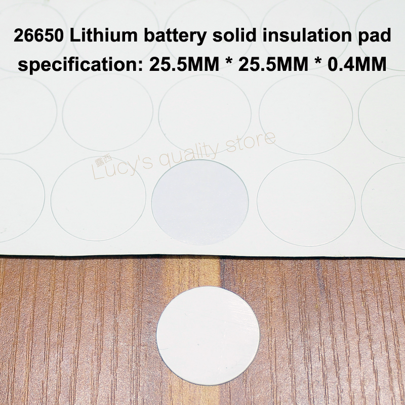 50pcs lot 26650 Lithium Battery Pet Plastic Positive Hollow Flat Insulation Gasket 26700 Surface Mat Meson in Replacement Parts Accessories from Consumer Electronics