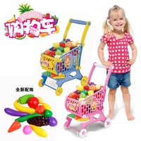 Supermarket Shopping Cart Toy Car Children Fruit Walker Toys Hot Simulation Barrow