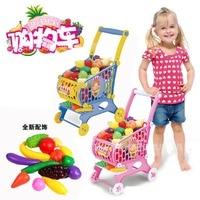 Supermarket shopping cart toy / car / children / fruit Walker toys / hot simulation barrow