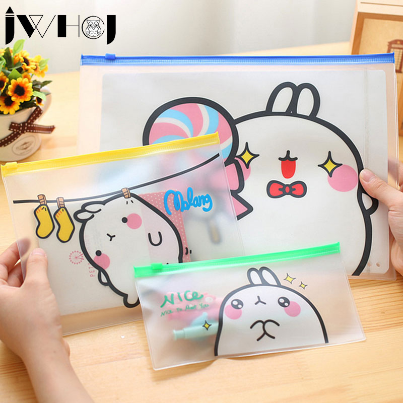 1 Pcs Cute Cartoon Potatoes Rabbit Waterproof Multifunction Zipper Document Envelope Data Case School Supplies Stationery