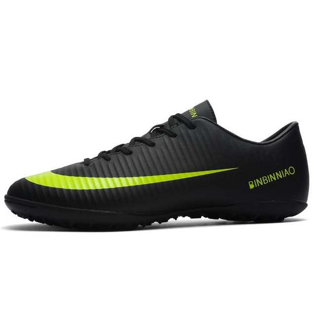 Murawa futsalu długie kolce i krótkie kolce kostki wysokie topy Soccer korki męskie buty piłkarskie w piłce nożnej buty trampki kryty