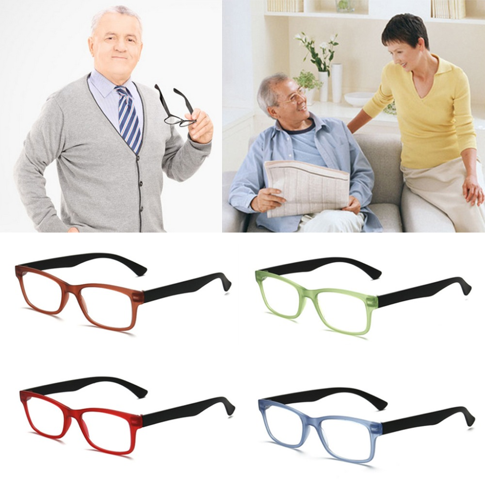 1PC Unisex Reading Glasses Presbyopic Eyeglasses Full Frame +1.0 To +4.0 Portable 4 Colors Hot