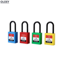 1pc Engineering plastic insulation padlock safety lockout tag lock energy isolation lock Keys alike master key Dust-proof 38mm