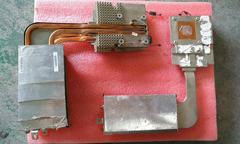 "original for Apple iMac 27"" A1312 HD6970 HD6970m HD 6970 6970M 109-C29657-00 216-0811000 Cooler Aluminum Heatsink Heat Sink kit"