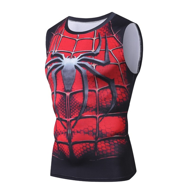 New Fashion Spiderman Golds G ym Tank Top Men Sleeveless T Shirt Bodybuilding Fitness Men's Singlets Muscle Clothes Workout Vest