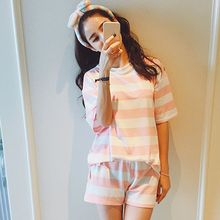 Women's Striped Sleepwear Nightgowns 2pcs women Sleep &