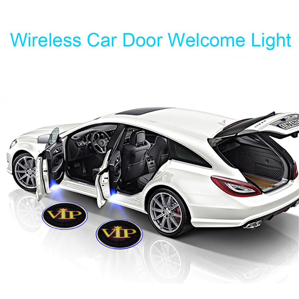 Wireless Car Logo LED Welcome Light For BMW AUDI VW Benz Ford Projector Light Halloween Decoration Car Styling Door Light (2)