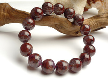 Newly Natural Canada Auralite 23 Red Purple Round Beads Bracelet 13mm Crystal Women Men Stone Rarest Jewelry AAAAA