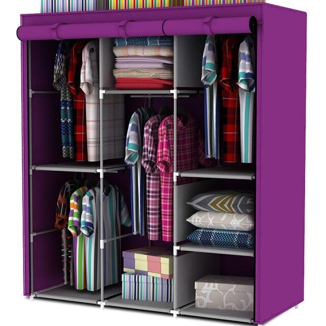 Tubería de acero armario sencillo armario ropa colgada armario ...