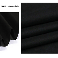 150cm*100cm Big deal! silk/cotton fabric pure black silk material for dress lining silk cotton tissue lightweight soft linings
