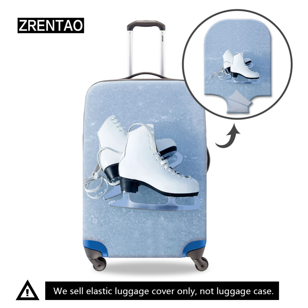3D Flower Pattern Print Luggage Protector Travel Luggage Cover Trolley Case Protective Cover Fits 18-32 Inch