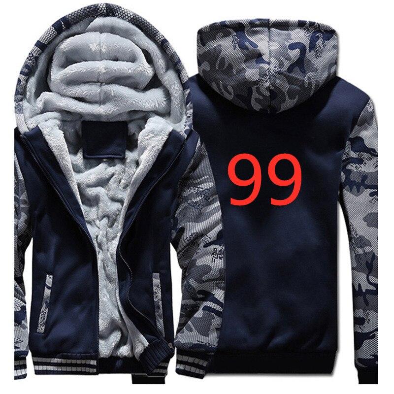 99 Winter Cardigan Men Hoodies font b Jacket b font Ford Mustang Print Clothing Fashion Man