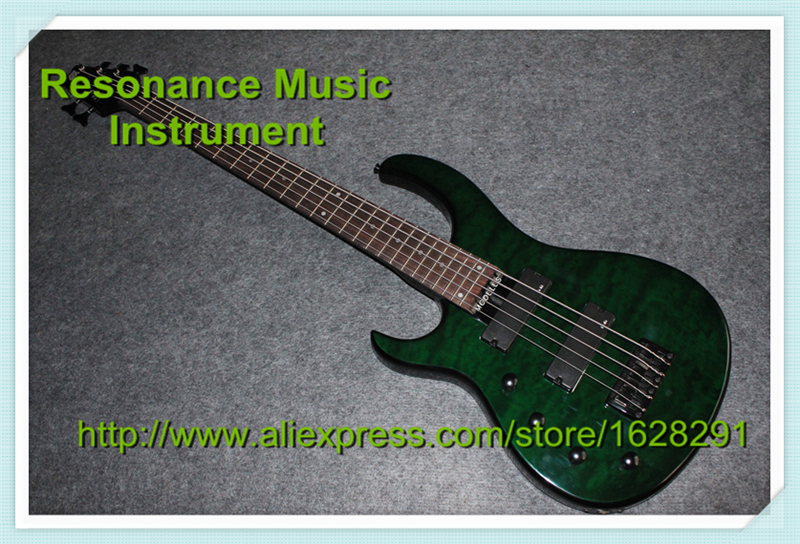 Custom Shop 5 Strings Bass Guitar Left Hand Body Limited Edition In Stock limited edition custom shop 5 strings dragonfly electric bass guitar maple neck through bamboo inlay china oem factory