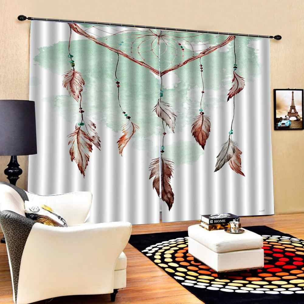 Luxury Blackout 3D Window Curtains For Living Room Accessories curtains for girls room