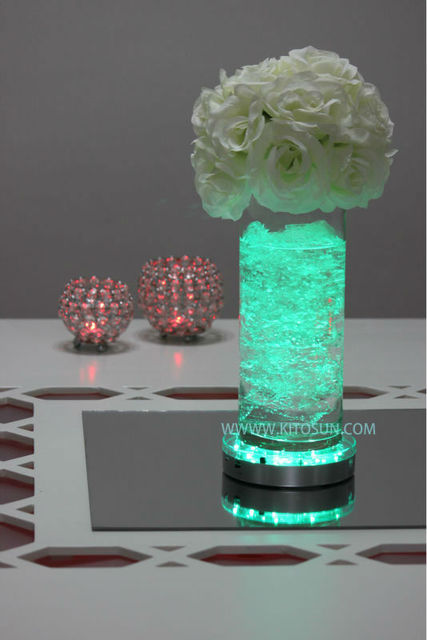 2016 Wedding Souvenir AA Battery Operated Multi Colors 6inch Led Vase Base Light for Wedding Decoration, 20units/lot