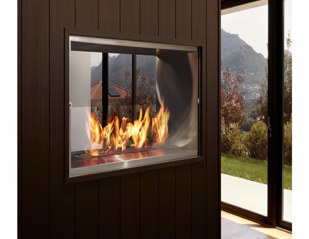 on sale 24 inch stainless steel silver manual fireplace etanol bio цена
