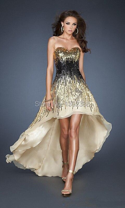 Aliexpress.com : Buy vestidos de festa Shiny Gold and Black Beaded ...