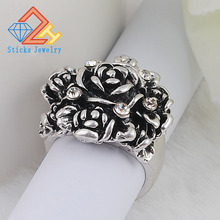 Retro Rose Ring female fashion alloy free shipping
