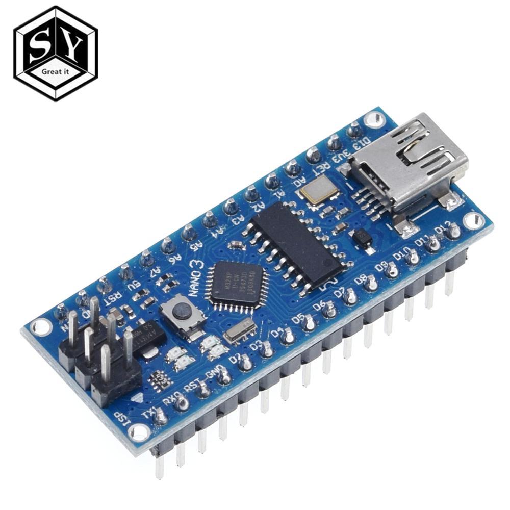 Nano 1PCS Mini USB With The Bootloader Nano 3.0 Controller Compatible For Arduino CH340 USB Driver 16Mhz NANO V3.0 Atmega328P