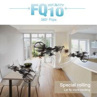 FQ10A WIFI FPV RC Quadcopter Altitude Hold Wireless Helicopter With 2MP Camera Foldable 6 Axle Drone Photography Video Device