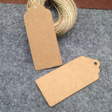 60x25mm 2015 New Brown Kraft Paper Tags Lace Scallop Head Label Luggage Wedding Note +String DIY Blank price Hang tag Kraft Gift