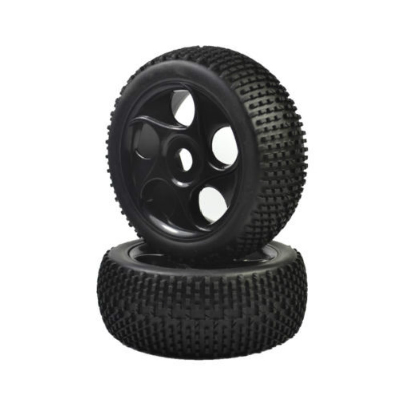 4PCS 1:8 Rubber Tires & Wheel Rims for HSP RC 1:8 Off-Road Buggy Car 4pcs rc crawler truck 1 9 inch rubber tires