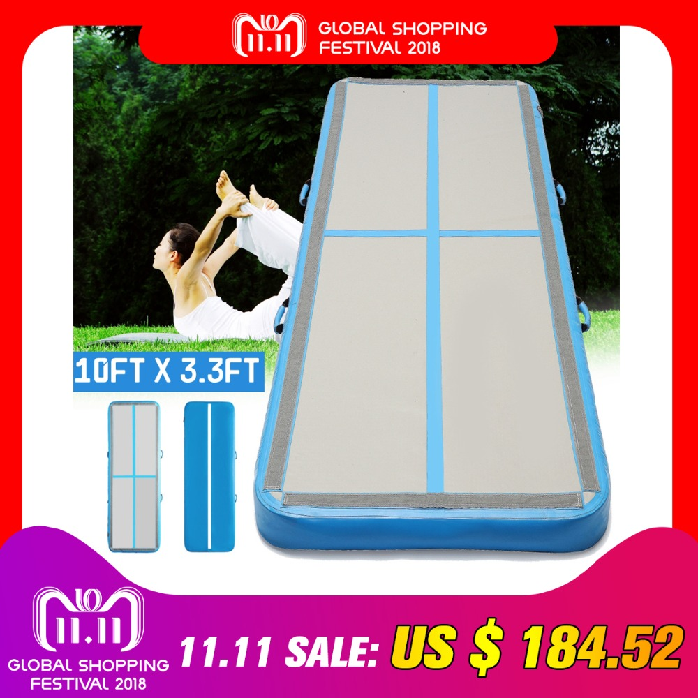 AirTrack 100x300x10cm Inflatable Cheap Gymnastics Mattress Gym Tumble Air track Floor Tumbling Air Track For Sale new arrival yoga mats 0 9 3m inflatable tumble track trampoline air track floor home gym gymnastics inflatable air tumbling mat