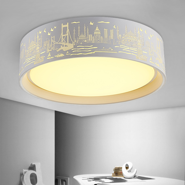 Modern brief dinning roon hollow iron LED ceiling light fixture home deco restaurant acrylic ceiling lamp