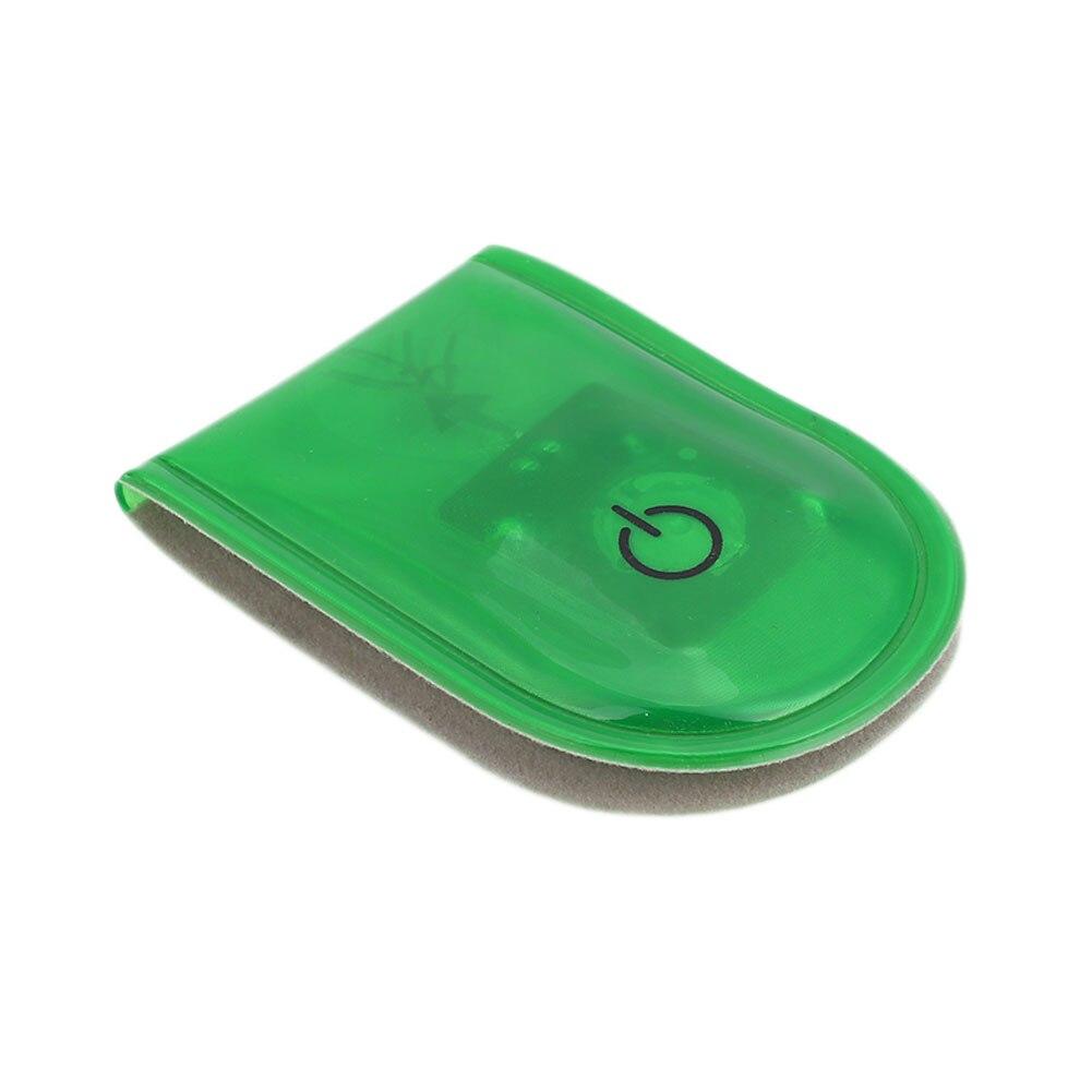 1 шт. велосипедный светильник s сигнальная лампа беговой светильник s светодиодный светильник магнитный зажим Магнит Прочный стробоскоп светильник на открытом воздухе спортивный привлекательный - Цвет: green