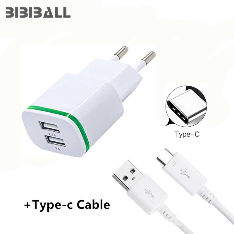 USB C 3,1 2-port LED usb ladegerät + 2A typ C Schnelle lade USB für SAMSUNG Galaxy s8 s9 plus Vernee v2 pro Mars, apollo Lite