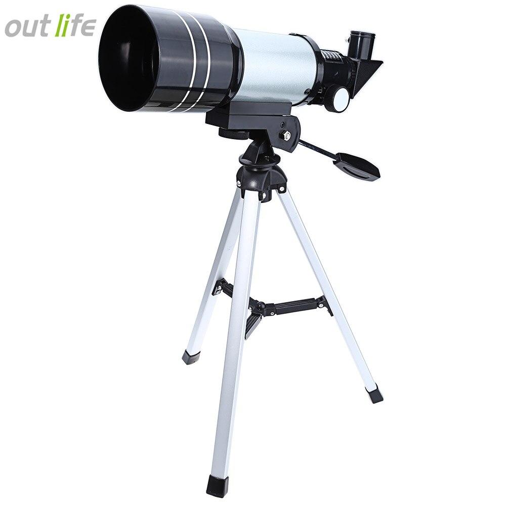 Outlife F30070M Monoculaire Espace Professionnel Télescope Astronomique avec Trépied Réglable Levier Monoculaire Extérieur Lentille de Barlow