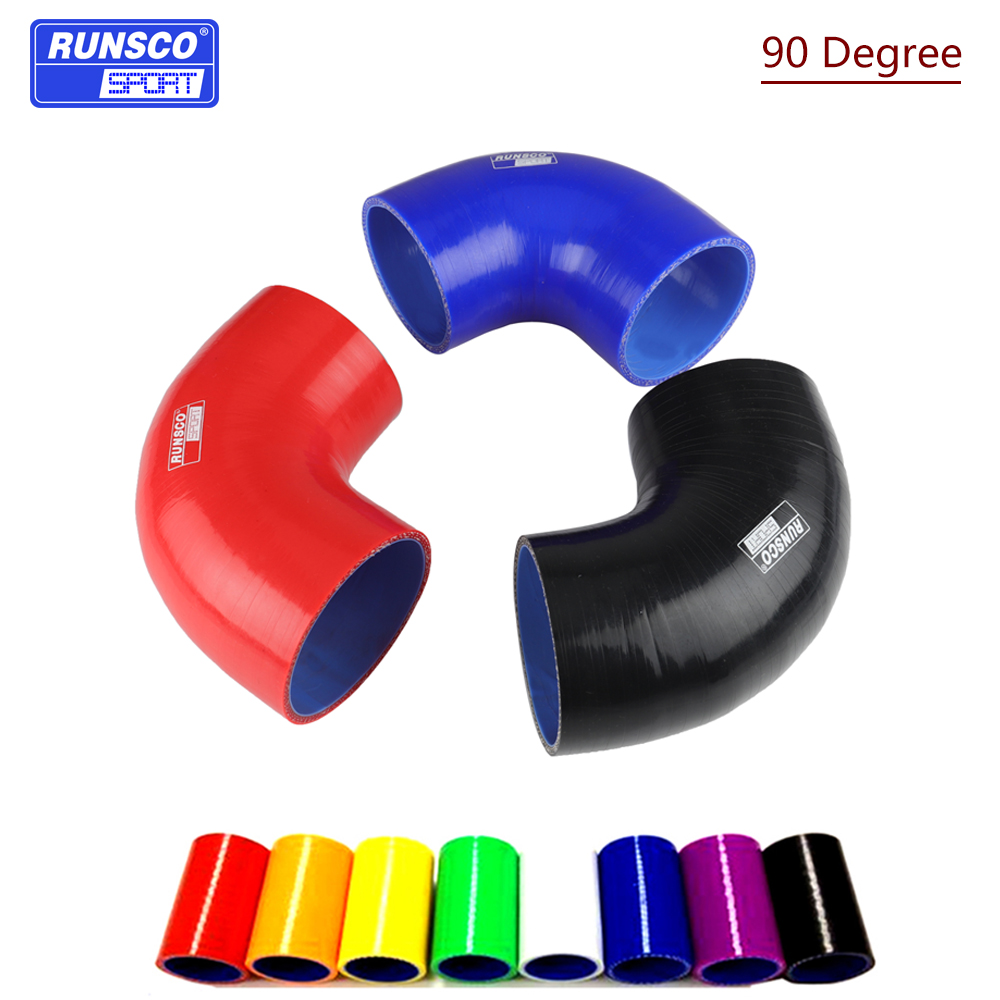120/5000 90 Degrees Silicone Hose Elbow Rubber Joiner Bend Tube For Intercooler Cold Air Intake Hose 38 45 51 57 63 70 76 83 89